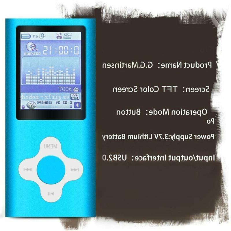 G.G.Martinsen Azure Stylish Mp3/Mp4 Player A 16Gb Micro Sd Card, Ph