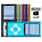 G.G.Martinsen Blue Versatile MP3/MP4 Player with 32GB Micro