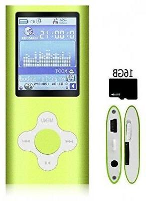 G.G.Martinsen Green Versatile MP3/MP4 Player a Micro Support