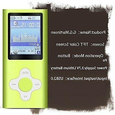 G.G.Martinsen Green MP3/MP4 Player a Micro Support