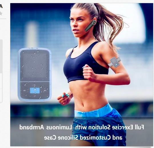 AGPTEK G15 16GB Bluetooth 4.0 MP3 Player Supports Playlist FM Radio, Blue