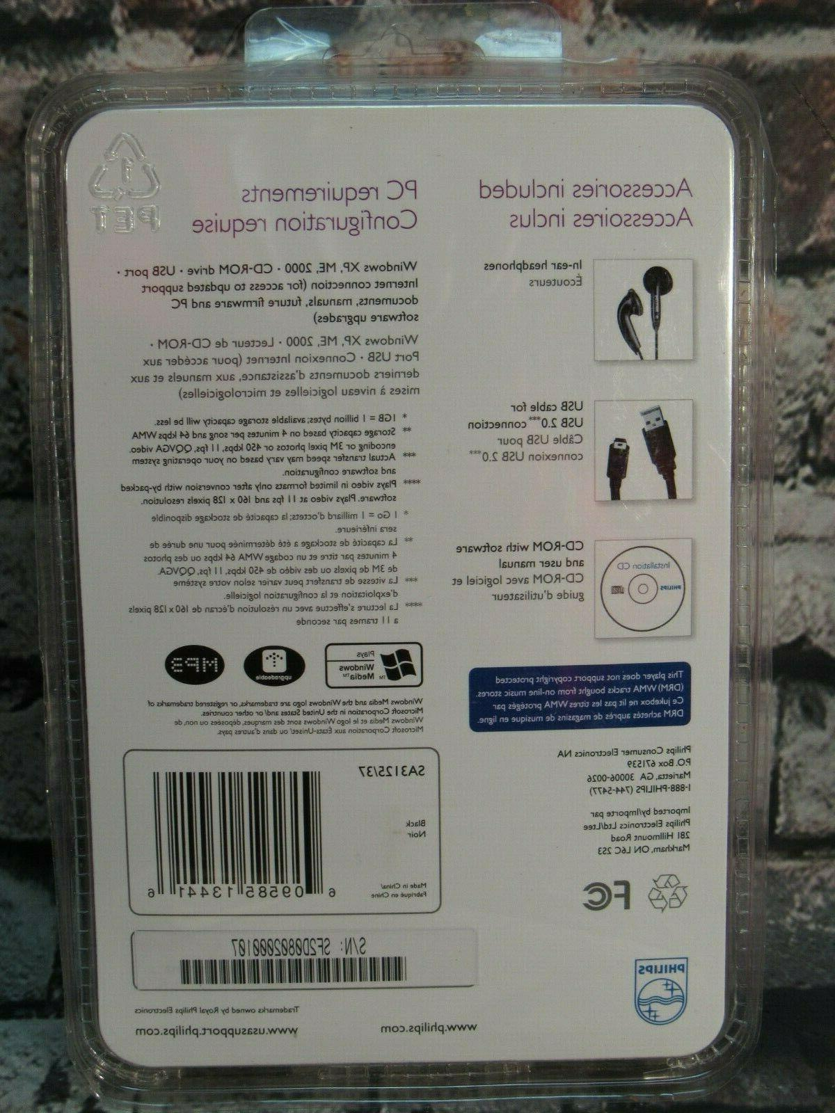 Philips Go MP3 WMA Player SA3125