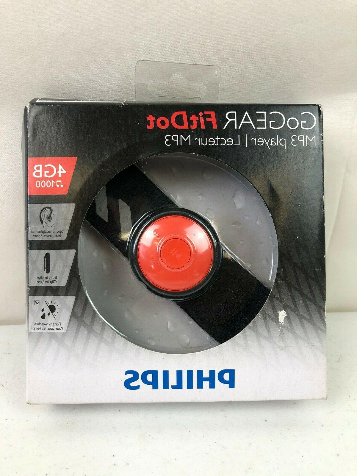 gogear fitdot mp3 player 4gb usb headphones