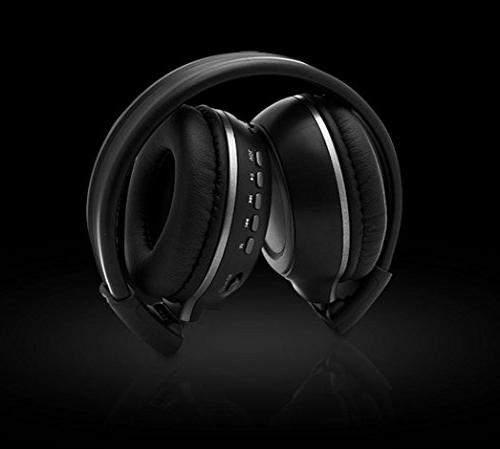 Wireless Headset/Headphones With Mic/Microphone For Iphone Phone/PC/Tablet/Desktop/Laptop/Notebook, Player/FM/Bluetooth /Supprot TF card