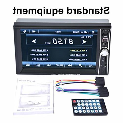 Gotd 2 Din Touchscreen Car Radio Player Camera