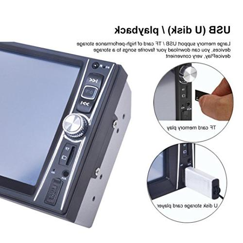 Gotd 7 Double Din Car Stereo Player Camera