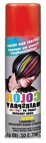 Color Hair Spray 3oz-Red