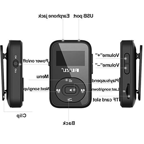 8GB Handy Clip Bluetooth Player FM Recorder/Calendar, Player Running Support Up to
