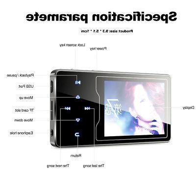 HiFi Lossless 8GB-64GB RUIZU Mini MP3 Player Music Audio Video Radio
