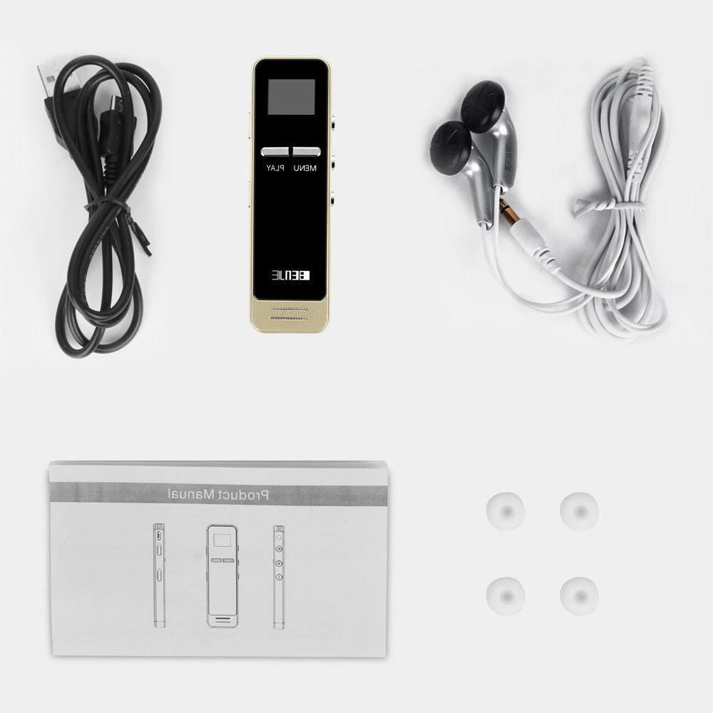 BENJIE HiFi MP3 8GB FM Radio Player External Speaker Voice Recorder