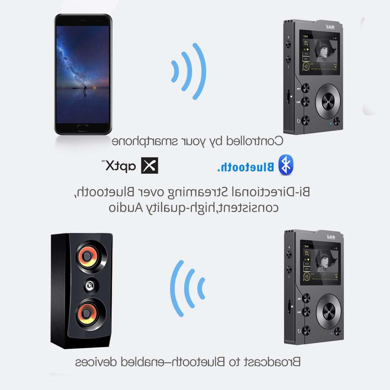iRULU HiFi Bluetooth 4.0 Lossless Audio Player SD Card