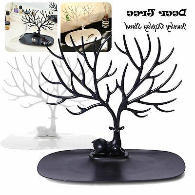 Jewelry Deer Tree Stand Display Organizer Necklace Ring Earr