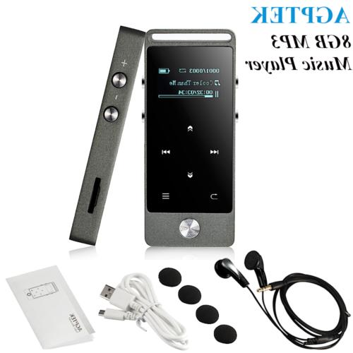 AGPtek Latest Version MP3 Music Player Lossless Sound FM Rad