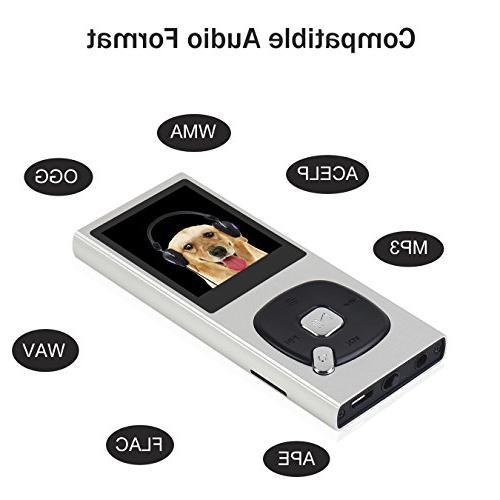 FecPecu 8GB Player Hi-Fi Sound Portable Up