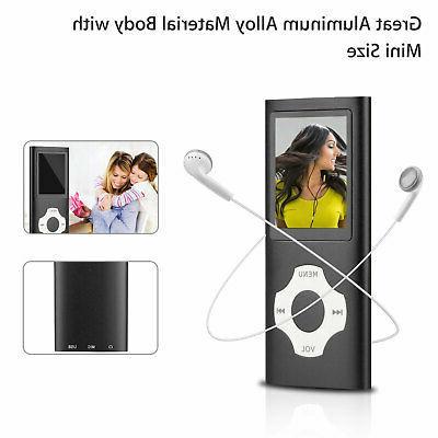 64GB Portable MP3 MP4 Media Radio Recorder HIFI Sport Speakers