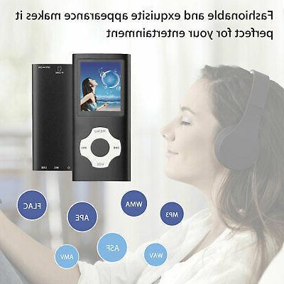 Mini MP3 Player MP4 Radio HiFi Lossless Sound Up to 64GB