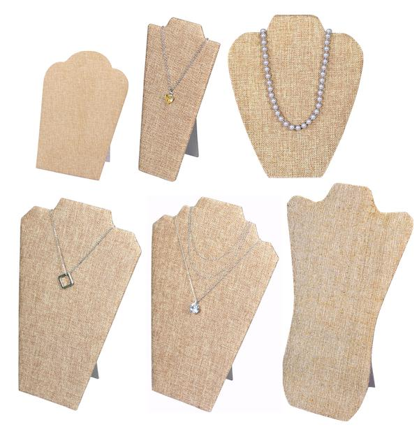 Jewelry Easel Stand Jewelry Burlap Display Easels Burlap Nec