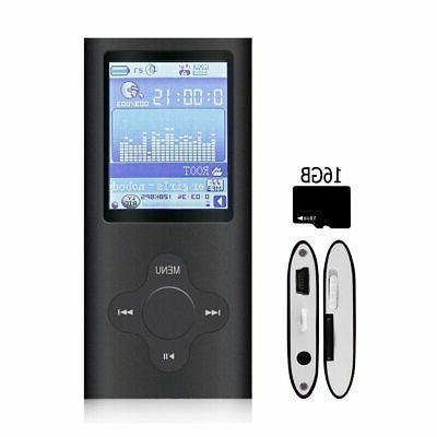 MP3 & MP4 G.G.Martinsen Black Versatile With 16GB Card,