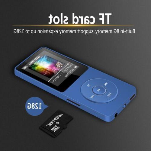 AGPTEK Music 8GB 70 Hours Dark Blue