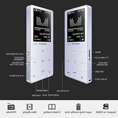 MYMAHDI 8GB Audio with Photo Recorder, FM Radio, A-B Playback, Build-in Speaker Silver