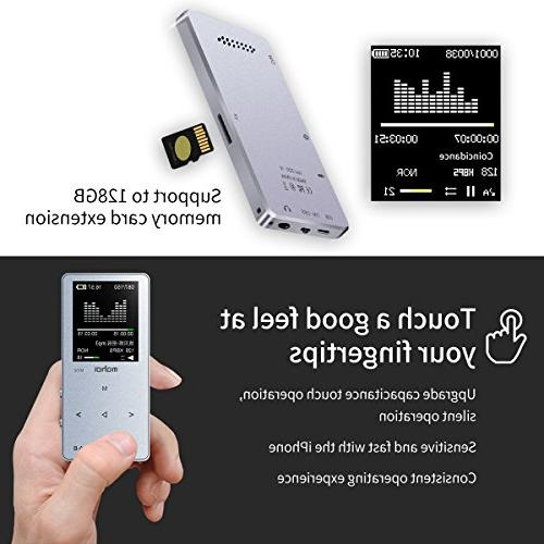 8GB Audio Player with Photo Voice Recorder, A-B Playback, E-Book, Metal Build-in Silver