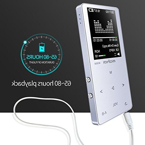 MYMAHDI MP3/MP4 Music Player, 8GB with Photo Voice Recorder, Radio, A-B Playback, E-Book, Body, Build-in Speaker Silver