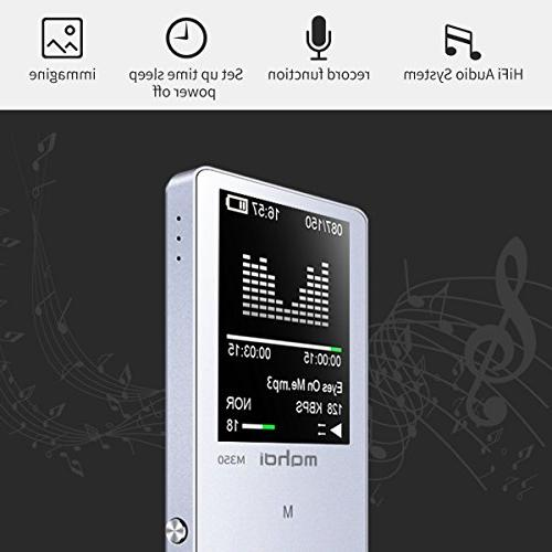 MYMAHDI 8GB Player with Voice Recorder, A-B Playback, E-Book, Metal Silver