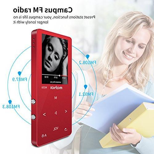 MYMAHDI MP3/MP4 Portable Photo Recorder, FM E-Book,Build-in