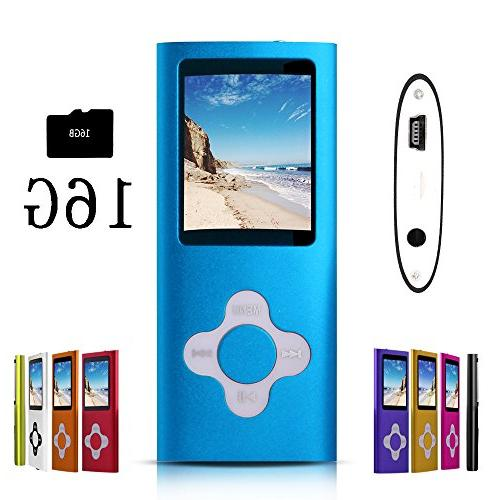 blue stylish mp3 mp4 player