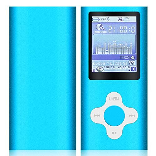 G.G.Martinsen Blue MP3/MP4 Player Micro SD Port Music Media MP3 Player, MP4