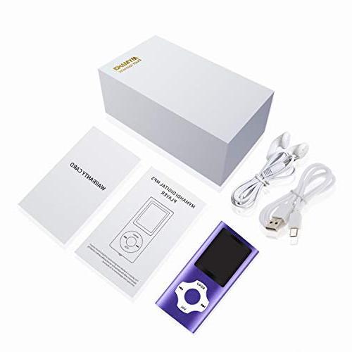 Mymahdi Inch LCD Screen Micro Card Slot,Max Support SD TF Card,Purple