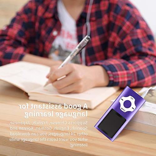 Mymahdi MP3/MP4 Inch LCD Micro Card Support 64GB Micro TF