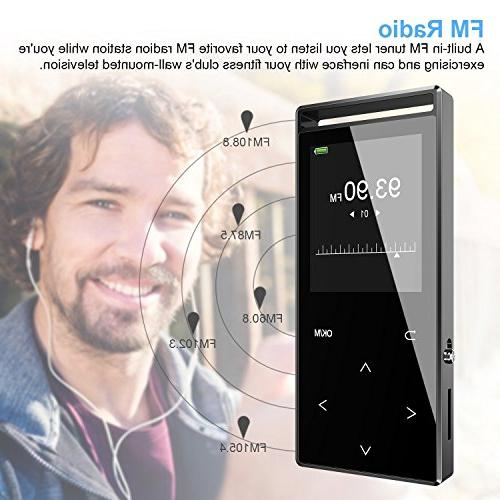 MP3 with Bluetooth, 16GB Music Player FM Radio/Voice Reading/Pedometer,with for
