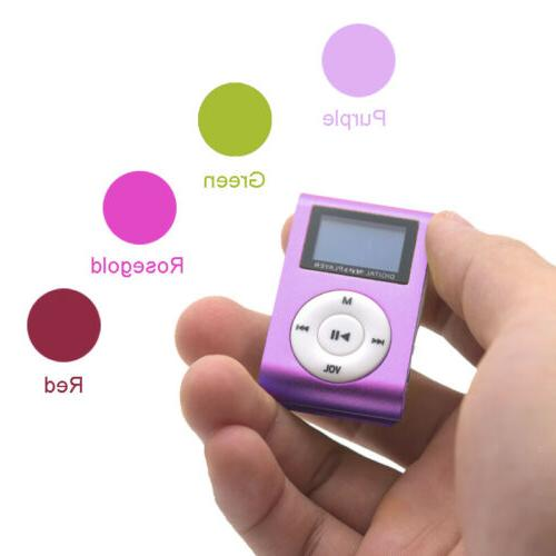 MP3 Music Player With Digital Clip 32GB Micro SD TF NEW
