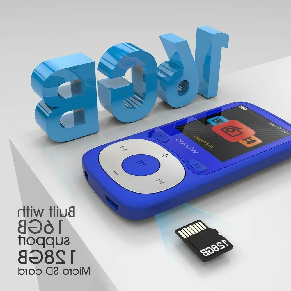 MP3 Player,16GB Music with FM Radio Voice Recorder HiFi MP