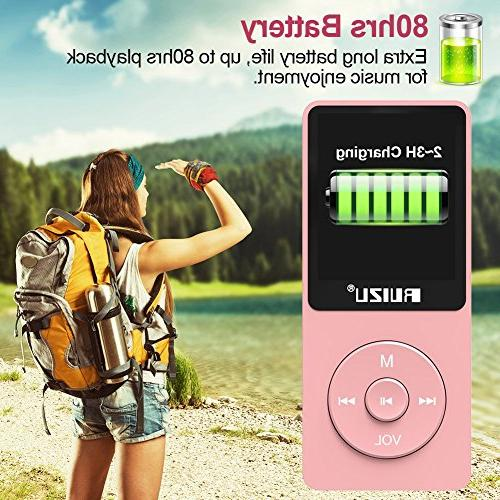Mp3 RUIZU Ultra Slim with Radio, Recorder, Play, Reading, Hours Playback and 128