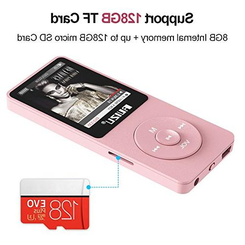 Mp3 Player, RUIZU X02 Ultra with Radio, Recorder, Video Play, Text Reading, 80 Playback and Expandable Up 128