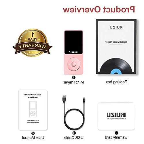 Mp3 Ultra Slim with Recorder, Play, Text Reading, 80 Hours and Expandable 128 GB