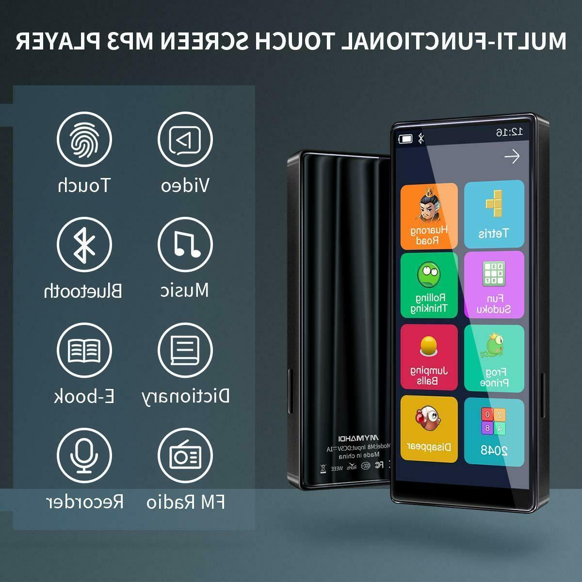 MYMAHDI MP3 8GB Full Screen Bluetooth 5.0 Speaker