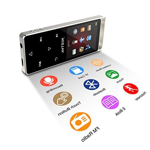 MP3 Player 4.0, Buttons 1.8inch Screen 8GB Portable Lossless with FM