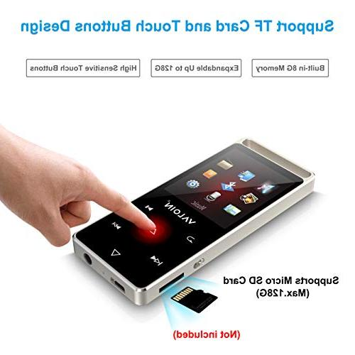 MP3 4.0, Touch Buttons with 1.8inch Screen 8GB Lossless with FM Radio Pedometer