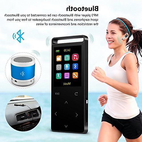 MP3 with ,16GB FM Radio/ Voice Lossless Alarm Clock, HD Sound Quality , 2018 newest with