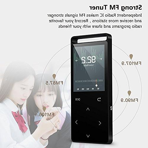 MP3 with Bluetooth ,16GB player FM Voice Lossless Alarm Clock, Touch button, HD Earphone , with an
