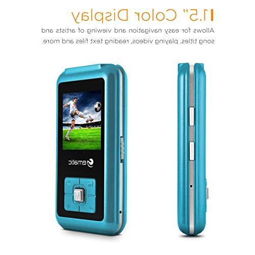 1.5-Inch MP3 Video Player FM Blue