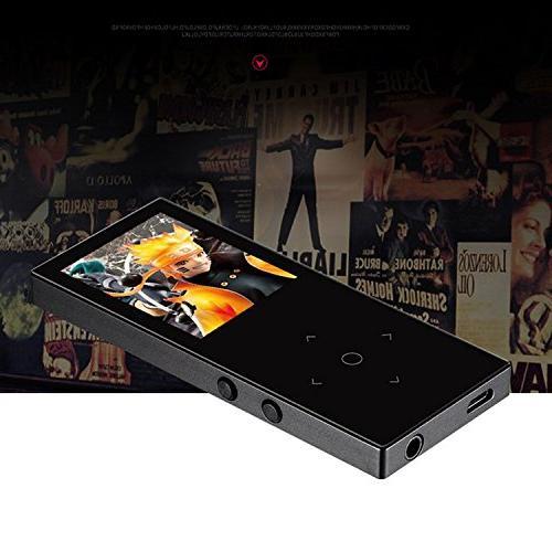 HONGYU Bluetooth 8GB Player ,1.8 Inch TFT Lossless FM Radio Voice Audio Player running -Black