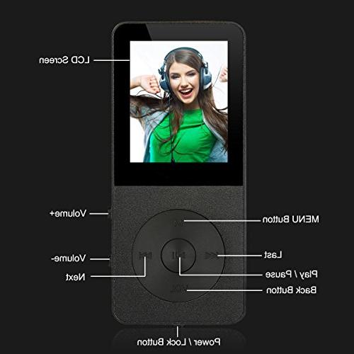 MP3 Player, Music - FecPecu Updated 8GB Hi-Fi Audio With FM Radio To 64GB