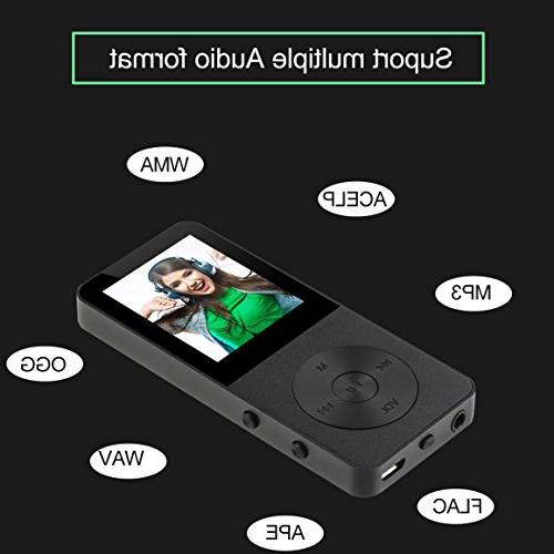 MP3 Player, Music Players - Updated Version 8GB Hi-Fi Hours Audio Build-in FM Expandable To 64GB
