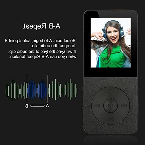 MP3 Player, Players - FecPecu Version 8GB Sound Hours , Audio Player With FM To 64GB