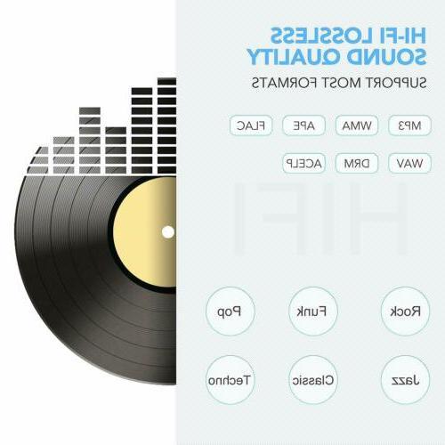 AGPTEK FM Radio 16GB Touch Button Music Player