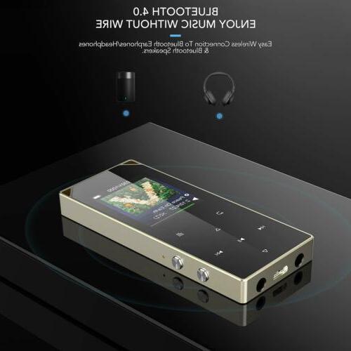 AGPTEK MP3 Bluetooth FM Radio Touch Music Player